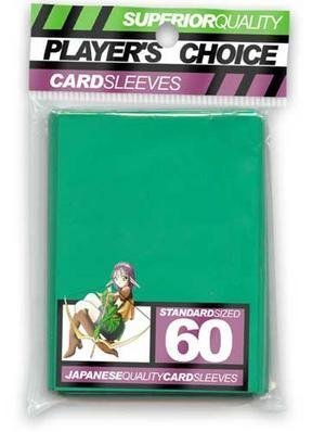 Deck Choice Standard Green pack Of Sleeves Size Player's 60 PHqda4q