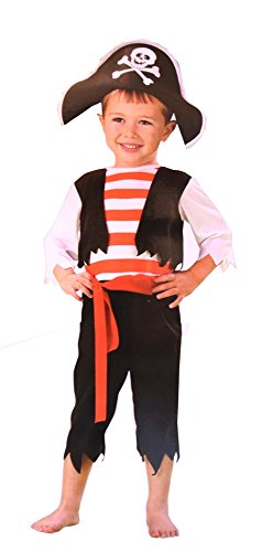 Pirate Outfits For Toddlers (Toddler Boys Pint Size Pirate Halloween Costume (3T-4T))