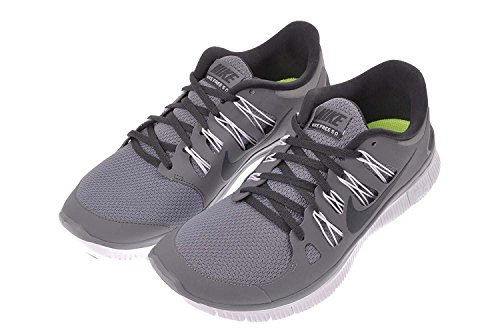 Nike Mens Free 5.0+ Breathe Running Shoe Synthetic, COOL GREY/ANTHRACITE-WHITE, 38.5 unknown EU/5.5 unknown UK
