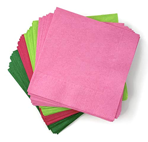Watermelon Party Napkins - 50 Ct One in a Melon 1st Birthday Tropical Flamingo