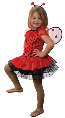 Lady Bug with Antennae Headband and Detachable Wings, Size 4/6