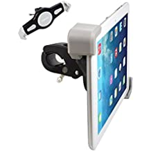 Expanding Tablet Mount for Exercise Bike or Spin Bicycle Handlebars, Heavy Duty Clamping iPad Holder - Domain Cycling