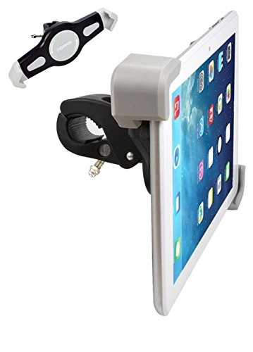 Expanding Tablet Mount for Exercise Bike or Spin Bicycle Handlebars