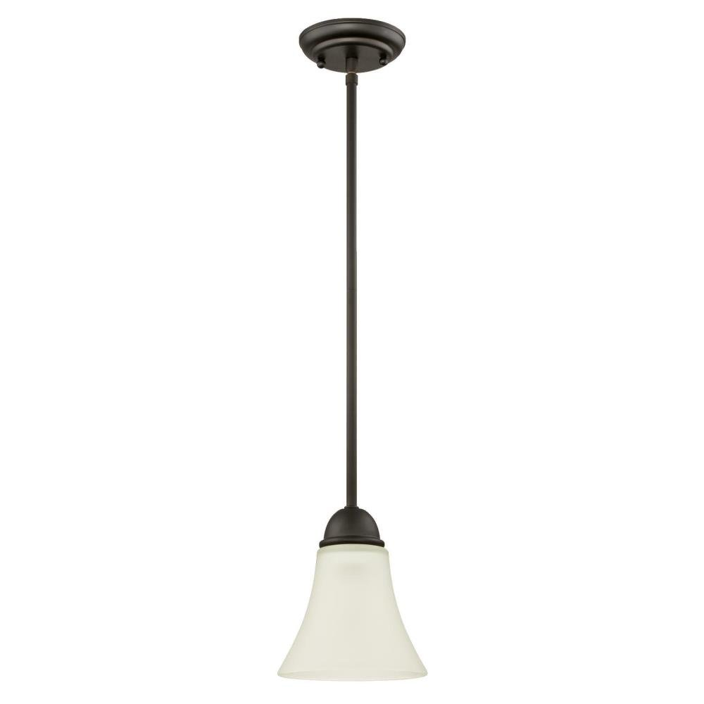 6306100 Dunmore One-Light Indoor Mini Pendant, Oil Rubbed Bronze Finish with Frosted Glass