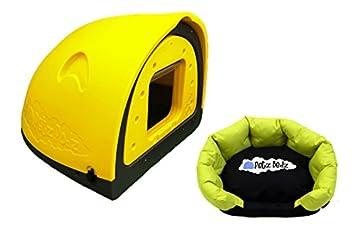 PetzPodz Perro Pod con Solapa Placa Frontal Insertar tamaño Mediano Funda Amarillo plástico Perro Crate,