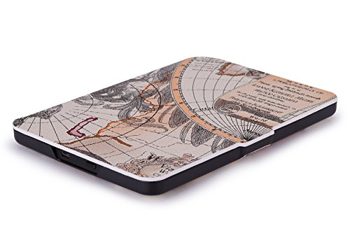 MoKo Case for Amazon Kindle 7th Gen - Ultra Lightweight Shell Case Stand Cover Case for Amazon Kindle 2014 ( 7th Generation ), Map A by MoKo (Image #6)'
