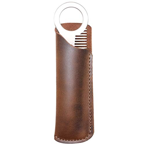 Hide & Drink, Leather Comb Case (Comb NOT Included), Protector Holster, Stylish, Personal Care, Barber Accessories…