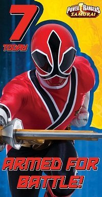 i Power Rangers Samuari Age 7 Birthday Card ()