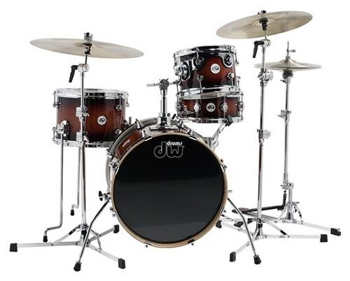 DW Design Series Mini-Pro 4-Piece Shell Pack Tobacco (Pro 4 Cymbal Pack)