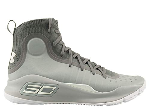 Under Armour Curry 4 Mid Mens in Overcast Grey/Graphite, 9.5