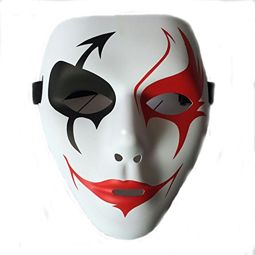 Costume Mask With Three Types Costume Full Face Mask For The Age Of Ten And UP Halloween Party Masque (red mouth with red (Wimpy Kids Costume)