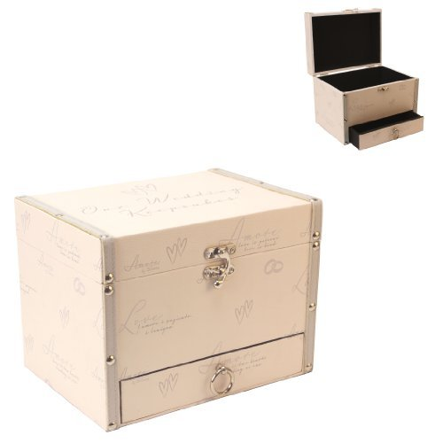 Amore Bride's Wedding Keepsake Storage Box with Drawer 2642S by Amore