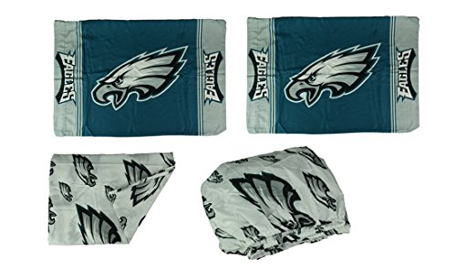 - Northwest Philadelphia Eagles 3 Piece Full Bed Sheet Set