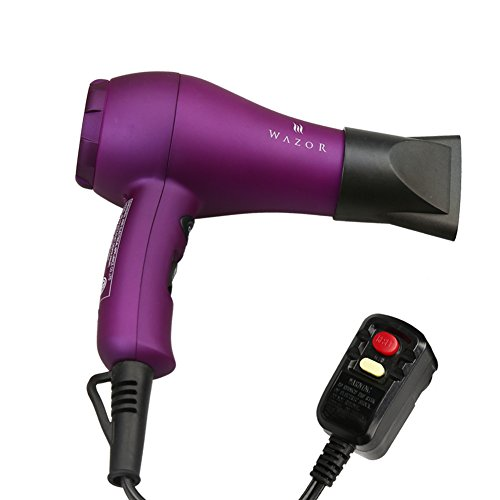Wazor Hair Dryer Ionic Ceramic Mini Size Blow Dryer For Travel or Children With Cool Button Purple