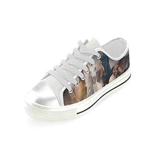 D-story Custom Running Horse Womens Classic Canvas Shoes Fashion Sneaker