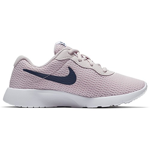 Nike Girl's Tanjun Shoe Barely Rose/Navy/White Size 1 M US