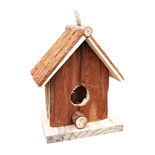 Forart Grass Bird Hut - Cozy Resting Place for Birds - Provides shelter from Cold Weather - Bird Hideaway from Predators - Hand-Woven Teardrop Shaped