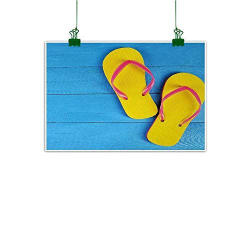 Unpremoon Yellow and Blue Wall Decoration Flip