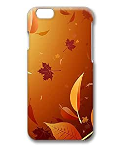 Falling Autumn Leaves Illustration Protective Hard PC Snap On 3D Case for iphone 6 Plus 5.5-1122041