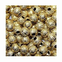 ROUND METAL SPACER BEADS 4mm choice of finishes STARDUST 100pc FREE SHIPPING (Antique - Antique Gold Metal Bead