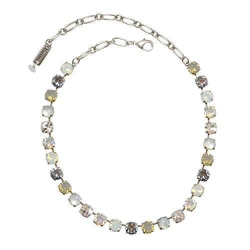 Mariana Silk Antique Silver Plated Swarovski Crystal Necklace, 16+2'' Extender by Mariana