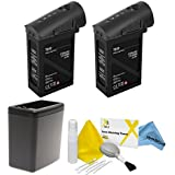 DJI Inspire 1 Black Edition Battery Bundle. Includes 2x TB48 Batteries (Black) + Battery Heater (Black) + eDigitalUSA Cleaning Kit
