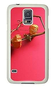 Samsung Galaxy S5 Lantern Flowers PC Custom Samsung Galaxy S5 Case Cover White