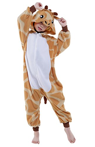 NEWSIAMESE Kids Halloween Giraffe Cosplay Pajama Unisex Children Costume (105(Suitable for 47.2-51.2 in.))