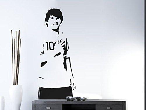 En la pared de tatuajes de pared Leo Messi de silueta, 45 x 120 cm ...