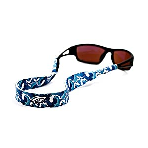 Pilotfish Sunglasses Strap - Floating Neoprene Eyewear Retainer - Sunglass Holder Strap - Custom Design (Waves)