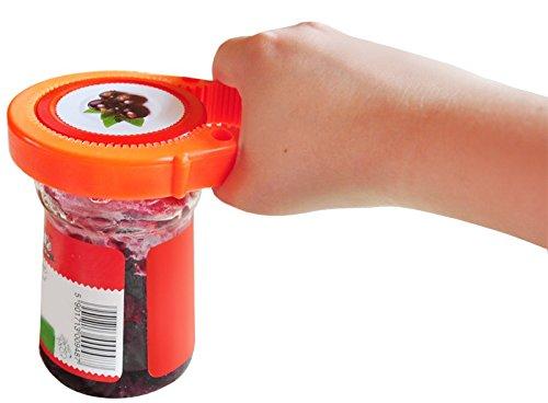 OUVRE-BOCAL o 3 ouvertures circulaires o ouvre-bocal en caoutchouc o sadapte parfaitement /à la forme de bocal o souple o facile /à nettoyer o lavable au lave-vaisselle o #2562