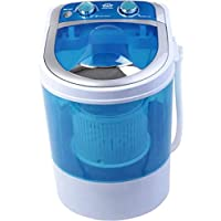 Zeom Plastic Round Portable Mini Washing Machine with Dryer Basket (Blue)