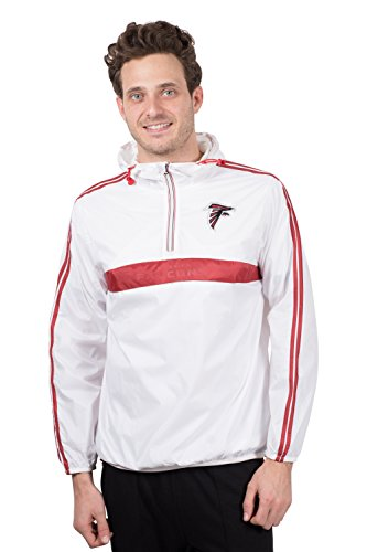 Icer Brands NFL Atlanta Falcons Men's Hoodie Windbreaker Waterproof Shell Jacket, X-Large, ()