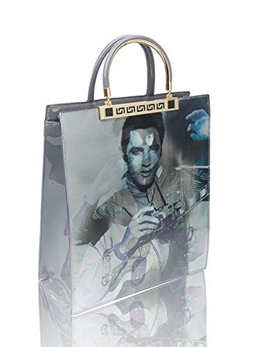 cm Dgrey Tote Women Bag Elvis Presley 29 Print For Handbag 5x35x12 Size Effect 3D Shopper 4Z6TqOx