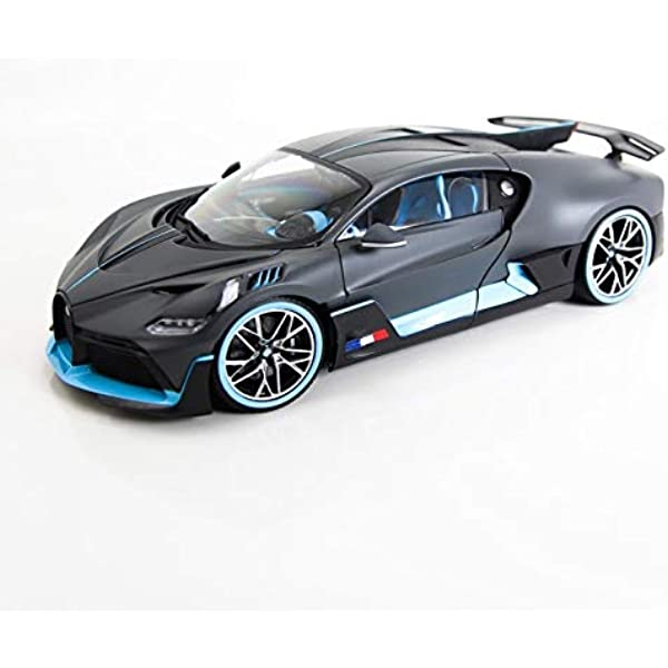 RED haomsj Bugatti Divo Diecast Metal Model Cars for Boy Toys Age 3-12 Pull Back Vehicles with Music Doors and Hood Can Be Opened