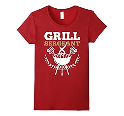 Grill Sergeant BBG Charcoal Grill Tailgate Football T-Shirt from Funny BBQ Griller Tshirts