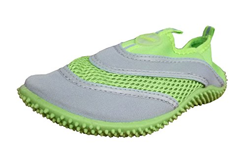 TOOSBUY Athletic Water Shoes Aqua Pool Beach Socks,Swim Shoes(Toddler/Little Kid/Big Kid) Green3132