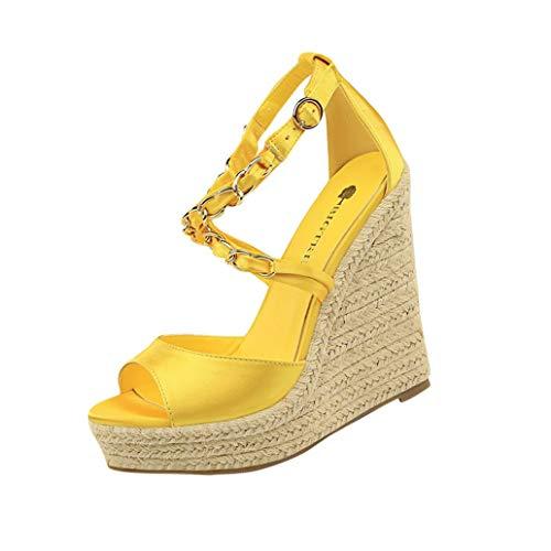 Loosebee Women's Zip Closure Crisscross Straps Platform Wedge Sandal Wedding Party Dress Shoe ()