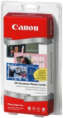 Canon Photo Paper All Occasion 4x8 Photo Cards 50 Sheets 50 Envelopes
