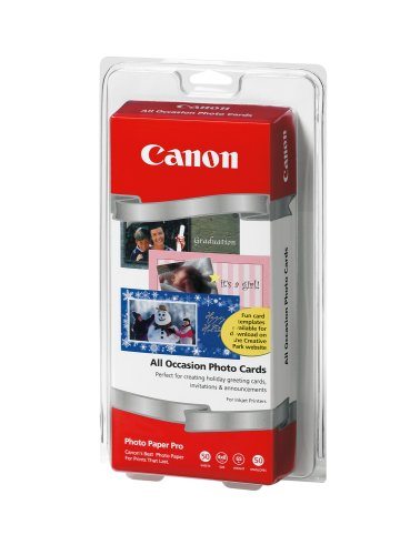 Canon All Occasion 4 x 8 Inch Photo Cards 50 Count (1029A069)
