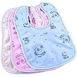 BRANDONN Newborn Multicolored Waterproof PVC Bibs-(Pack of 2)