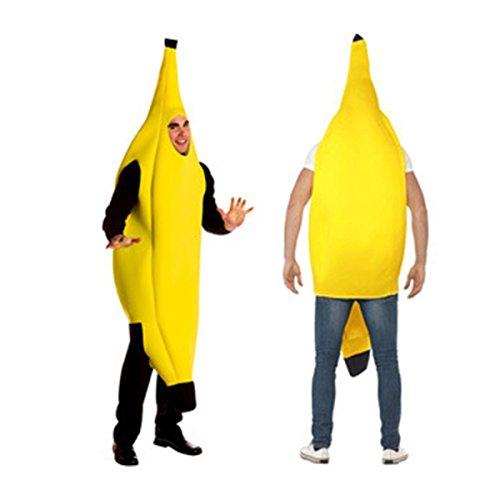 Funny Christmas Costumes Adults (Ciel Infini Unisex Banana Deluxe Lightweight Adult Banana Suit Funny Christmas Costumes,Yellow,( US 4-10 )M)
