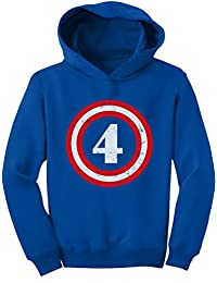 TeeStars - Captain 4th Birthday - Gift for Four Years old Toddler Hoodie