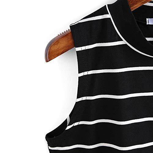 Oberteile Hemd Bluse Strand Aushöhlen Party Urlaub Clubwear Damen Rundhals