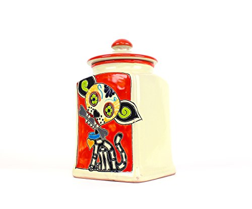 Muertos Doggie Treat Canisters (Red Muertos | Medium)