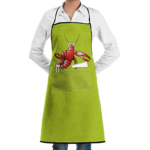 Hemmed Apron With Pockets Lobster Feddiy Aprons For Women Men - Custom Cooking Waist Chef BBQ Waterproof Apron ()