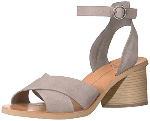 Dolce Vita Women's Roman Heeled Sandal, Grey Nubuck, 8.5 M US