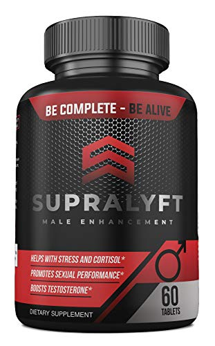 Supralyft Male Enhancement: Clinically Proven Testosterone Booster, Stress and Cortisol Reducer, Promotes Sexual Performance - Tongkat Ali, L-Arginine, Maca, Tribulus Terrestris - 30 Days (Best Proven Testosterone Booster)