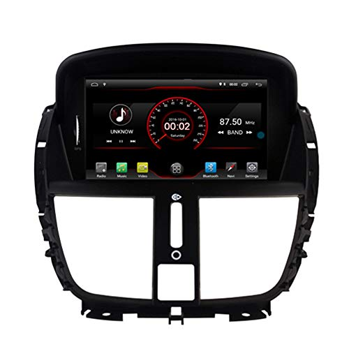 Peugeot 207 Car - Autosion Android 9.1 Car DVD Player Sat Nav Radio Headunit Navigation Stereo for Peugeot 207 2007 2008 2009 2010 2011 2012 2013 2014 Steering Wheel Control Black