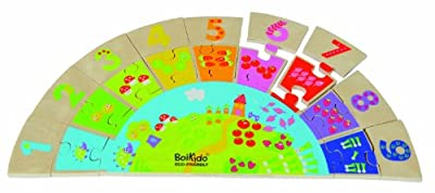 Boikido Eco-Friendly Wooden Rainbow Numbers Game by Boikido